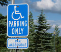 Handicap Parking Sign Royalty Free Stock Photo - 14898995