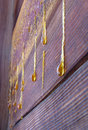 Drops Of Resin On Old Wall Royalty Free Stock Photos - 1499338