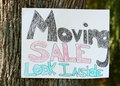 Moving Sale Sign Royalty Free Stock Photos - 14903518