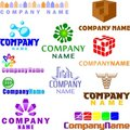 Set Of Assorted Logo Examples Stock Photo - 14939070