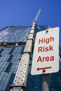 High Risk Area Sign Royalty Free Stock Photography - 14957057