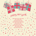 Happy New Year Card Stock Image - 14967551