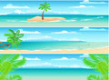 Set Of Tropical Banners Stock Image - 14974491