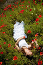 Girl In Poppies Royalty Free Stock Photos - 14975208