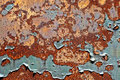 Old Peeling Paint On Rusty Metal Grunge Background Stock Images - 14985364
