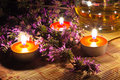 Tea Candles And Lavender Stock Images - 14989644