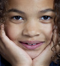 Close Up Symmetrical Portrait Of Girl Royalty Free Stock Photography - 15007307
