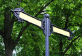 Old Metal Sign Post Stock Image - 15013631
