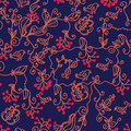 Dark Floral Seamless Pattern Royalty Free Stock Photo - 15014025