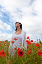 Business Woman Poppy Field Royalty Free Stock Image - 15027096