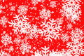 Red Backgroun With Snowflakes Royalty Free Stock Photography - 15036837
