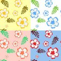 Seamless Pattern With Flowers And Leaves Royalty Free Stock Image - 15049026