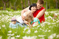 Smelling Flowers Royalty Free Stock Photo - 15051445