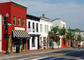 Small Town Main Street 2 Royalty Free Stock Images - 15054009