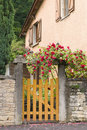A Gate, Entrance To A Front Yard Stock Images - 15061304