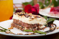 Sweet Chocolate Dessert With Nuts Royalty Free Stock Images - 15066919