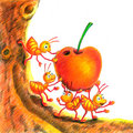 Ant And Apple Royalty Free Stock Image - 15069106