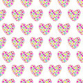Floral Hearts Seamless Background Royalty Free Stock Image - 15075356