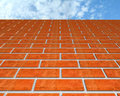 Brick Wall And The Sky. Stock Images - 15093644
