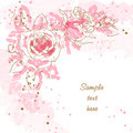 Romantic  Background With Roses Royalty Free Stock Photography - 15097337