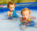 Playing In The Pool Royalty Free Stock Photography - 1513417