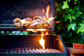 Chicken On BBQ Royalty Free Stock Photography - 15110537