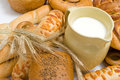 Milk And Bread Stock Photography - 15139432