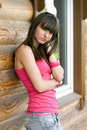 Girl  On A Veranda Stock Photo - 15155860