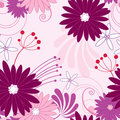 Floral Violet Seamless Pattern Stock Photography - 15155982