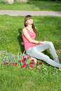 Girl Sunbathing Outdoor Royalty Free Stock Photography - 15156017