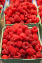 Raspberry Baskets At A Market Stock Images - 15167124