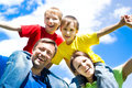 Happy Boys With Parents Stock Image - 15182361