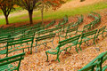Green Benches Royalty Free Stock Photo - 1523815