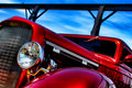 Classic American Red Hot Rod Speeding Royalty Free Stock Image - 15201286