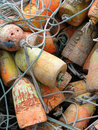 Crab Traps, Pots And Floats Royalty Free Stock Images - 15220289