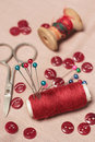 Sewing Kit. Royalty Free Stock Images - 15226299
