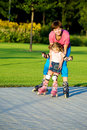 First Time In Roller Skates Royalty Free Stock Images - 15261779