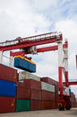 Crane & Cargo Containers Stock Images - 15275104