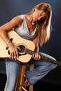 Guitar Lady Royalty Free Stock Photography - 15285077