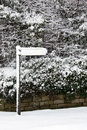 Winter Snow Covering A Sign - England Royalty Free Stock Image - 15293106