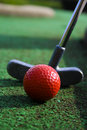 Golf Putter And Ball Royalty Free Stock Photos - 1530698