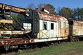 Rusty Old Train Cars Royalty Free Stock Photos - 1537748