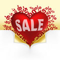 Red Heart White Text Sale Royalty Free Stock Photos - 15301778
