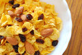 Healthy Cereal With Raisins And Nuts Stock Photos - 15304353