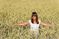 Happy Young Woman In Corn Field Stock Photos - 15305373