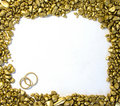 Wedding Gold Frame Royalty Free Stock Images - 15318239