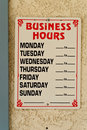 Business Hours Royalty Free Stock Photo - 15327315