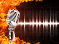 Microphone On Fire Background Royalty Free Stock Photos - 15330198