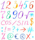 Set Of Figures And Symbols Stock Photography - 15338492