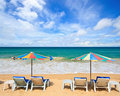 Beach Chair In Tropical Sea Stock Images - 15342084